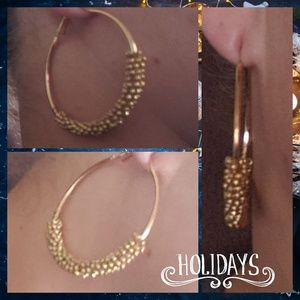 Jewelry - 🍁NEW gold Large Hoop earrings star trend